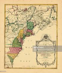 America States Map by North America United States 1777 Map Stock Illustration Getty Images