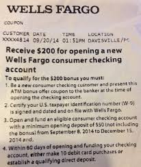 Teller Job Description Wells Fargo Wells Fargo Secret 200 Checking Promotion