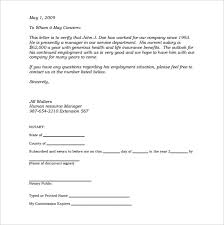 notarized letter templates 27 free sample example format