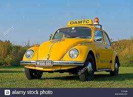 yellow volkswagen beetle royalty free volkswagen beetle öamtc austrian breakdown service stock photo