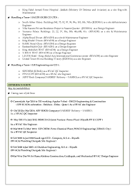 Sample Mechanical Engineer Resume by Resume Senior Hvac U0026 Plumbing U0026 Qc Engineer