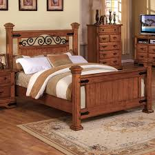 shop furniture of america sonoma american oak california king 4