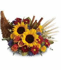 cornucopia arrangements classic cornucopia in frederick md amour flowers