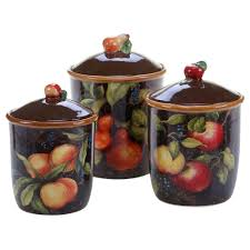 the capri collection 3 piece canister set 50 oz 74 oz 104 oz