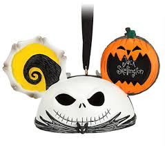 skellington and zero ear hat disney ornament