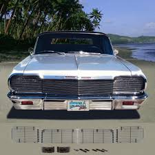 1964 chevy impala custom phantom billet grille 3 pieces