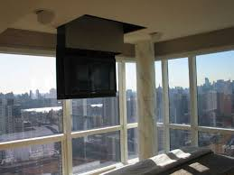 Drop Down Tv From Ceiling by Inspiration Ceiling Mounted Plasma Hideouts Hometone Home