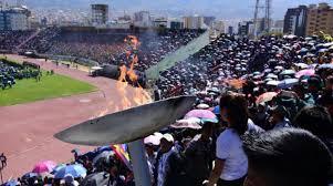 presidente inaugura segunda fase de los juegos inauguran los juegos plurinacionales nivel secundario en cochabamba