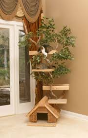 unique cat tree houses with real trees from pet tree house digsdigs