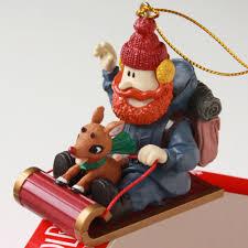enesco rudolph red nosed reindeer ornament xmas yukon cornelius 14