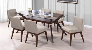 glass top dining table set 6 chairs wesley 6 seater glass top dining table urban ladder