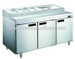 Refrigerated Prep Table by Refrigerated Pizza Counter Pizza Sanwich Prep Table Under Counter