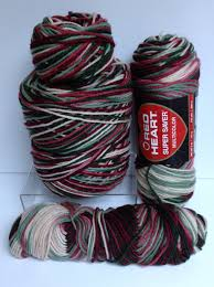 red heart worsted yarn destash multicolor variegated yarn skeins