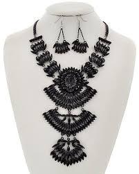 black rhinestone necklace images Art deco noir black rhinestone statement necklace the midnight rose jpg