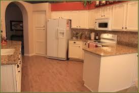 Modern Kitchen With White Appliances Brown Kitchen Cabinets With White Appliances Quicua