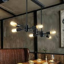 industrial style lighting chandelier industrial style lighting chandelier dining room retro style 6 light