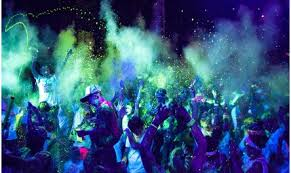 party light rentals throw the ultimate black light party