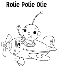 rolie polie olie driving airplane colouring colouring club