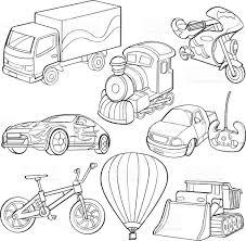 cartoon drawings of types of transportation stock vector art
