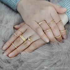 finger rings fashion images Eagle gold color finger ring set for women girl fashion vintage jpg