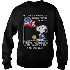 snoopy our flag does not fly shirt