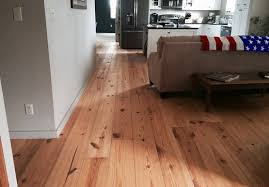 wide plank pine flooring to your home looks half rustic