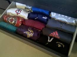 organize your sweatshirts to fit more in the drawer uploaded