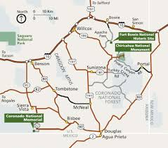 National Park Map Usa by Maps Coronado National Memorial U S National Park Service