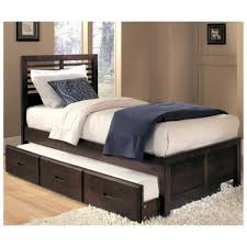 Wooden Box Bed Furniture Bedroom Charming Wooden Trundle Beds Plus Drawers For Bedroom