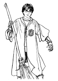 small harry potter coloring pages color online free printable