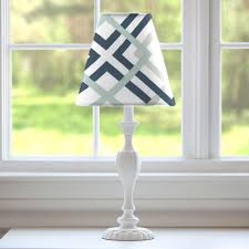 navy and gray geometric lamp shade carousel designs