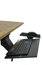 desk keyboard tray hinges amazon com uncaged ergonomics kt1 b ergonomic under desk