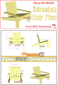 simple adirondack chair plans pdf download construct101