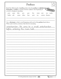 prefixes aplenty worksheets u0026 activities greatschools
