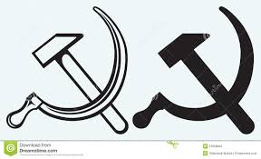 Sickle Russian Flag Hammer And Sickle On Old Russian Flag Stock Photo Image 23756170