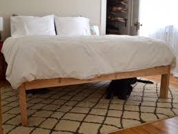 Pallet Bed Frame Plans Bedroom Diy Pallet Bed Frame With Storage Expansive Cork Area