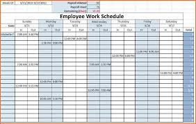 Excel Templates For Scheduling Employees by 6 Weekly Staff Schedule Template Excel Budget Template Letter
