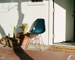 charles eames fiberglass dsw chair with beech