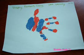 momma made it kid craft father u0027s day hand print art