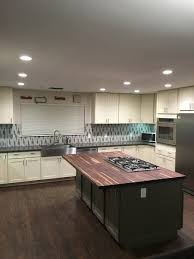 cream green shaker cabinets butcher block island counter cream green shaker cabinets butcher block island counter dayton painted white