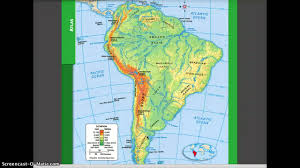 Physical Map Of North America by Physical And Political Geography Of South America Youtube