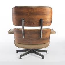 herman miller original vintage rosewood u0026 beige eames lounger