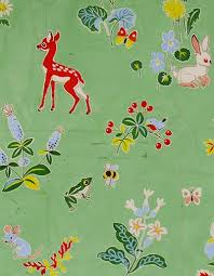 authentic french gouache design originally made for a fabric and