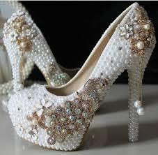 wedding shoes luxury new design 2016 pearl rhinestone luxury evening prom bridal shoes
