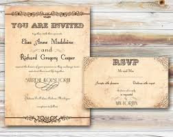 rustic wedding invitations for your unique wedding party