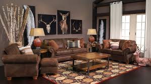 Living Rooms With Brown Leather Furniture Laramie Brown Ottoman Gallery Furniture