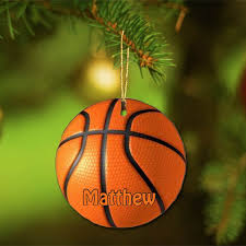 basketball ornament engraved gift collection