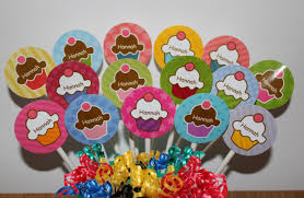personalized cupcake toppers personalized cupcake party mini cupcake toppers custom on luulla