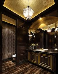 Luxurious Home Interiors Dark Marble Floors Luxurious Dark Bathroom With Marble Floor 3d