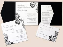 Invitations For Weddings Wedding Invitations White Paper Background And Black Fonts And